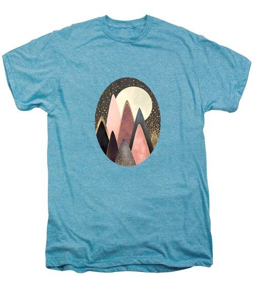 Pink And Gold Peaks Men's Premium T-Shirt