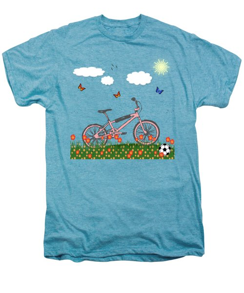 Pink Bicycle Men's Premium T-Shirt by Gaspar Avila