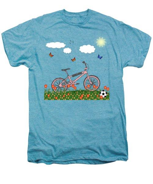 Pink Bicycle Men's Premium T-Shirt