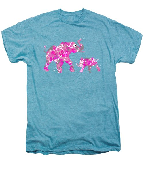 Pink Elephants Men's Premium T-Shirt by Christina Rollo