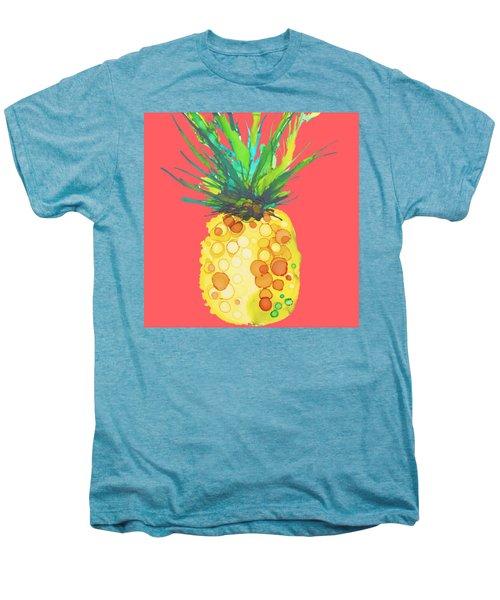 Pink Pineapple Daquari Men's Premium T-Shirt by Marla Beyer