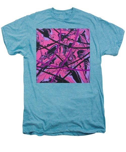 Pink Swirl Men's Premium T-Shirt by Teresa Wing