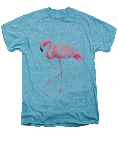 Pink Watercolor Flamingo Men's Premium T-Shirt