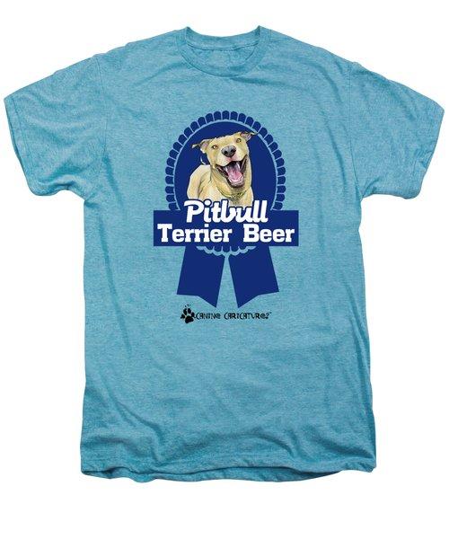 Pit Bull Terrier Beer Men's Premium T-Shirt