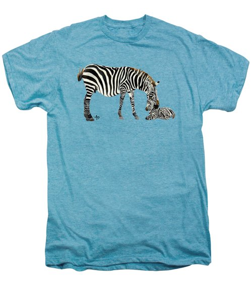 Plains Zebras Men's Premium T-Shirt by Angeles M Pomata