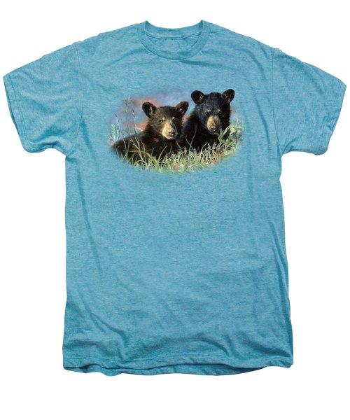 Playmates Men's Premium T-Shirt by Lucie Bilodeau