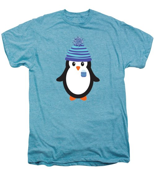 Pocket Snowflake The Penguin Men's Premium T-Shirt by Natalie Kinnear