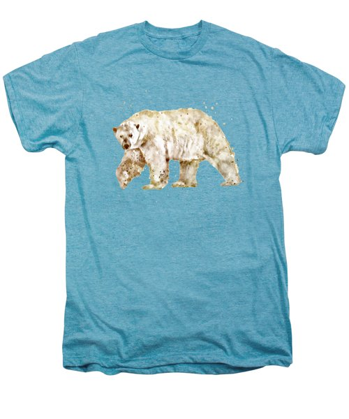 Polar Bear Watercolor Men's Premium T-Shirt