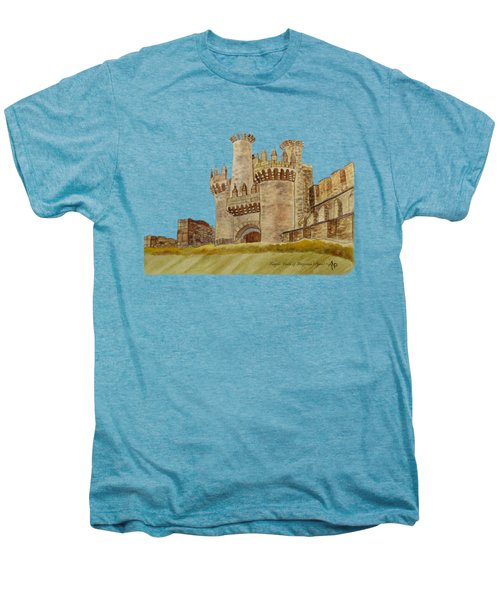 Ponferrada Templar Castle  Men's Premium T-Shirt by Angeles M Pomata