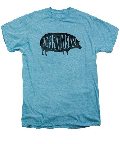 Porkatarian Pig Men's Premium T-Shirt by Antique Images