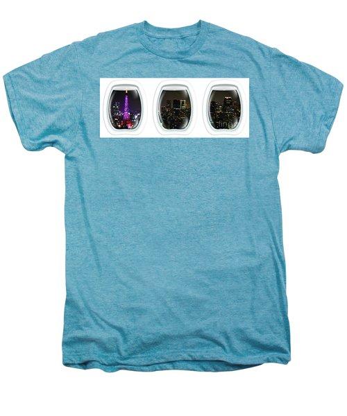 Porthole Frame On Tokyo Cityscape Men's Premium T-Shirt