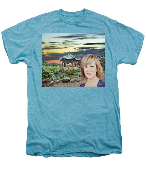 Portrait Of Jamie Colby By The Pagoda In Golden Gate Park Men's Premium T-Shirt
