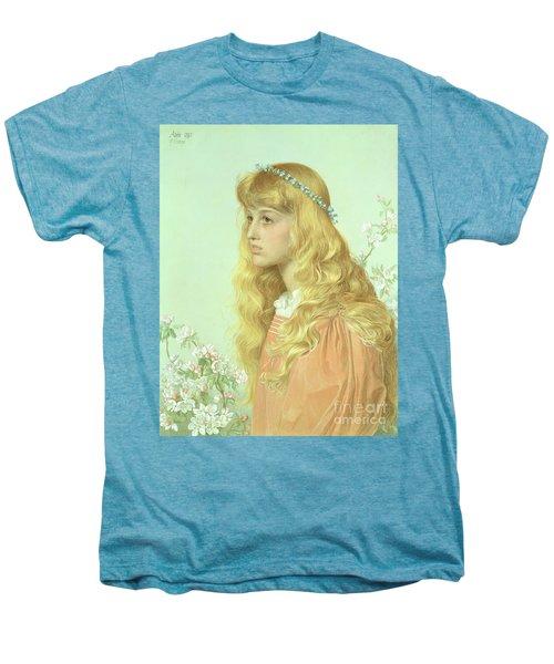 Portrait Of Miss Adele Donaldson, 1897 Men's Premium T-Shirt by Anthony Frederick Augustus Sandys