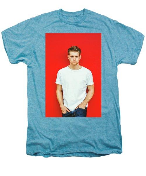 Portrait Of Young Handsome Man Men's Premium T-Shirt