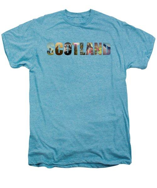 Postcard For Scotland Men's Premium T-Shirt