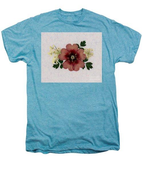 Potentilla And Queen-ann's-lace Pressed Flower Arrangement Men's Premium T-Shirt