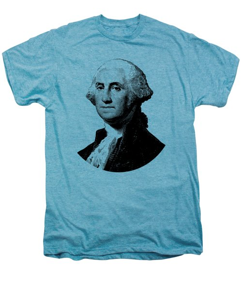 President George Washington Graphic - Black And White Men's Premium T-Shirt by War Is Hell Store