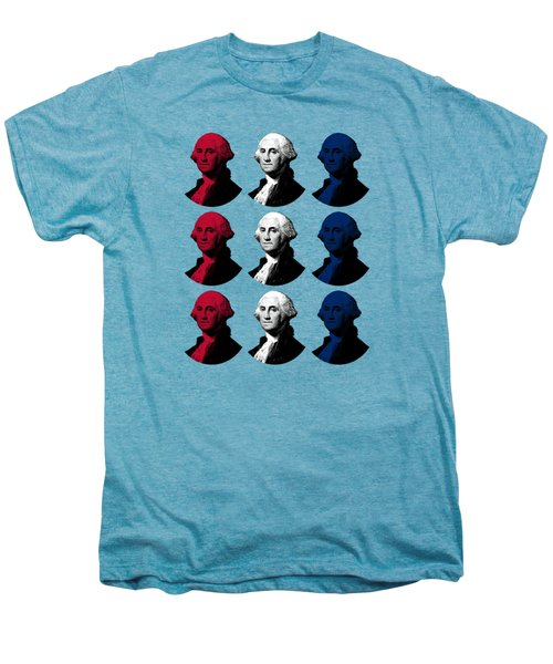 President George Washington - Red, White, And Blue  Men's Premium T-Shirt by War Is Hell Store