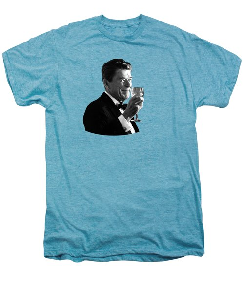 President Reagan Making A Toast Men's Premium T-Shirt by War Is Hell Store