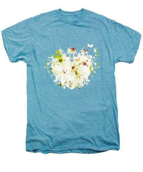 Pretty Pear Petals Men's Premium T-Shirt by Anita Faye