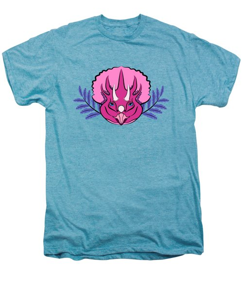 Pretty Pink Triceratops Men's Premium T-Shirt by MM Anderson