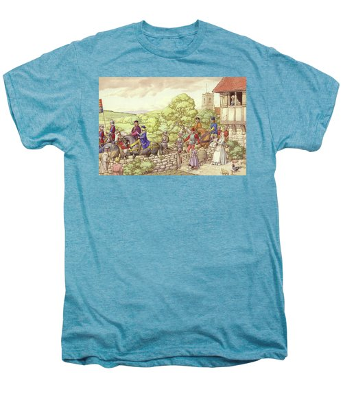 Prince Edward Riding From Ludlow To London Men's Premium T-Shirt by Pat Nicolle