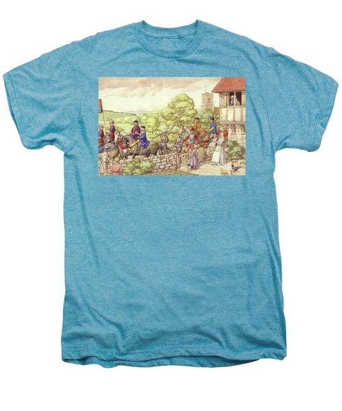 Prince Edward Riding From Ludlow To London Men's Premium T-Shirt