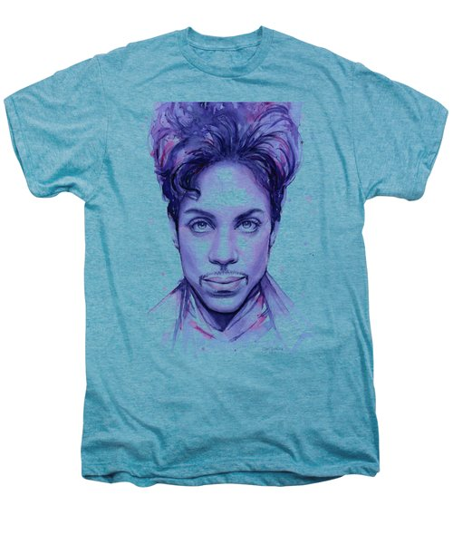 Prince Purple Watercolor Men's Premium T-Shirt by Olga Shvartsur