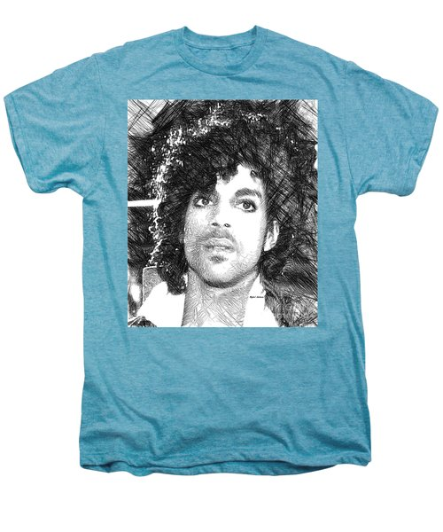 Prince - Tribute Sketch In Black And White 3 Men's Premium T-Shirt