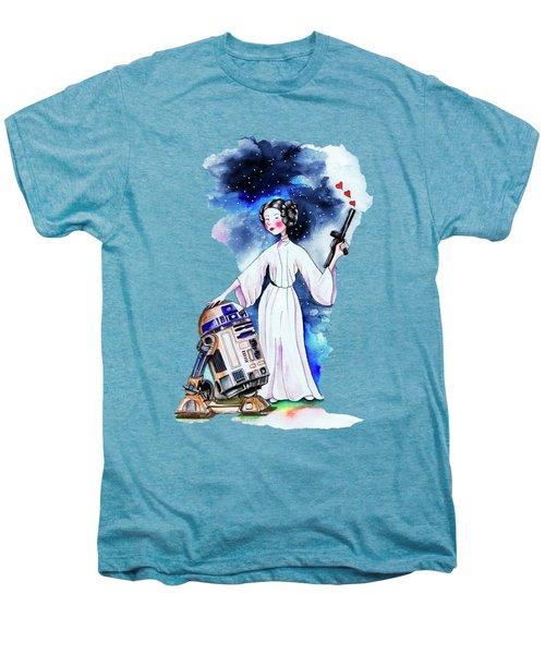 Princess Leia Illustration Men's Premium T-Shirt