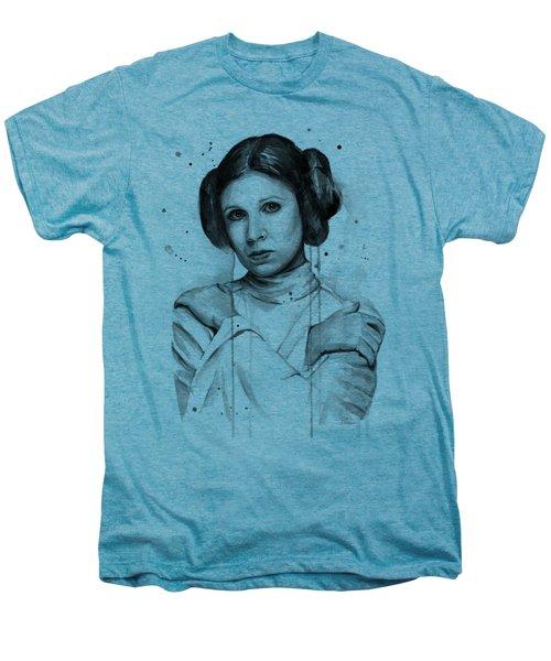 Princess Leia Portrait Carrie Fisher Art Men's Premium T-Shirt by Olga Shvartsur