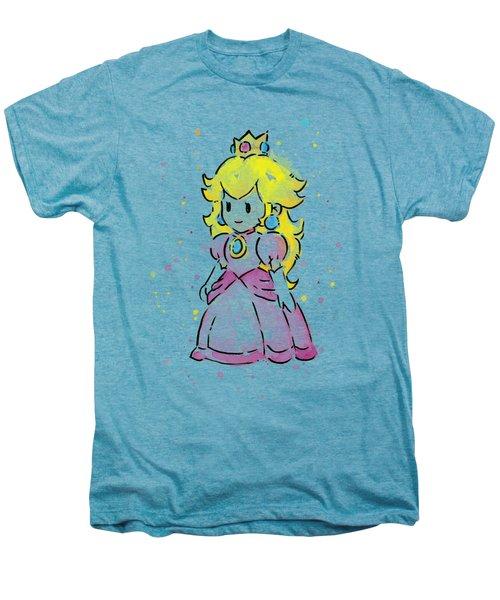 Princess Peach Watercolor Men's Premium T-Shirt by Olga Shvartsur