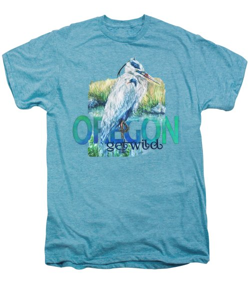 Puddletown Great Blue Heron Men's Premium T-Shirt by Kara Skye
