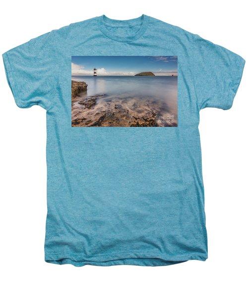 Puffin Island Lighthouse  Men's Premium T-Shirt