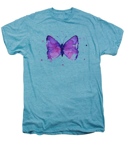 Purple Abstract Butterfly Men's Premium T-Shirt