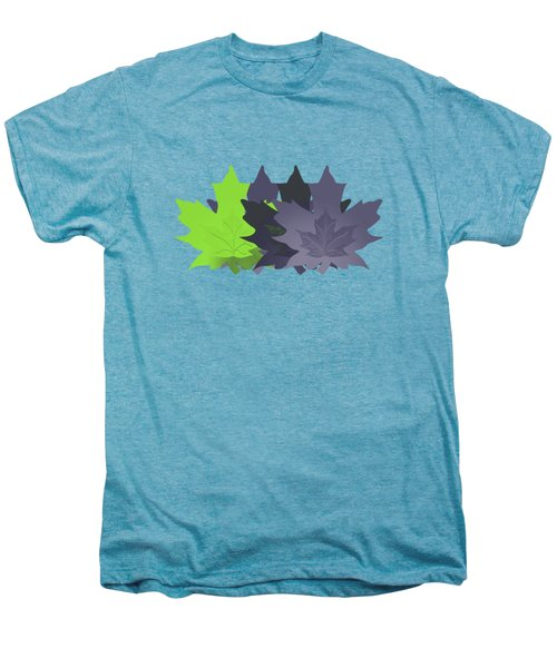 Purple And Green Leaves Men's Premium T-Shirt