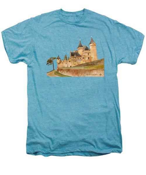 Puymartin Castle Men's Premium T-Shirt by Angeles M Pomata