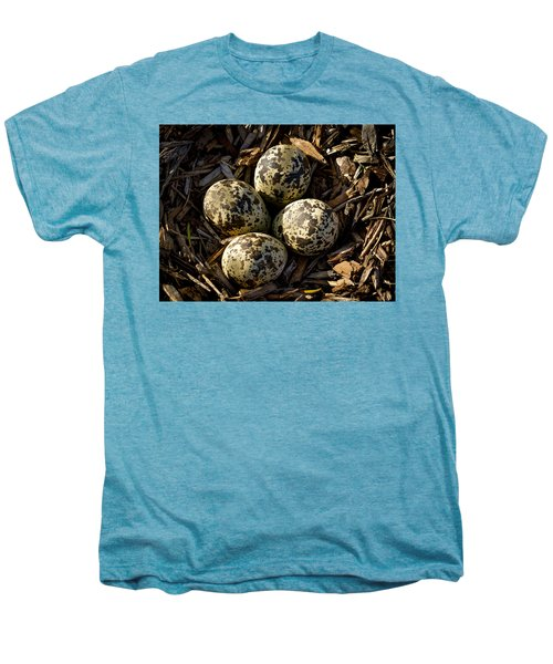 Quartet Of Killdeer Eggs By Jean Noren Men's Premium T-Shirt