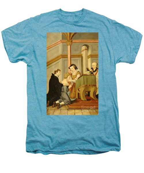 Queen Mary I Curing Subject With Royal Men's Premium T-Shirt