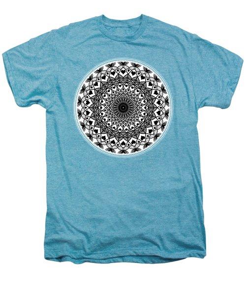 Queen Of Hearts King Of Diamonds Mandala Men's Premium T-Shirt