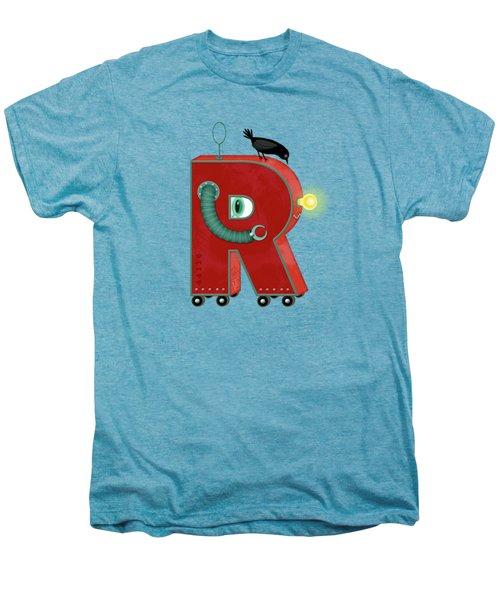R Is For Robot Men's Premium T-Shirt by Valerie Drake Lesiak