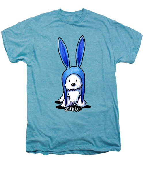 Rabbit Ears Westie Men's Premium T-Shirt by Kim Niles