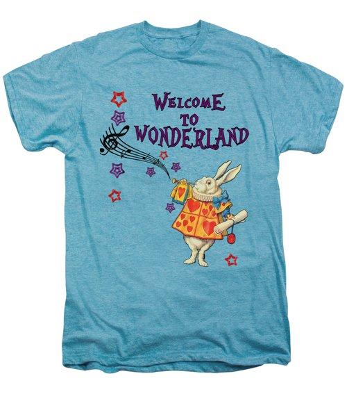 Rabbit Welcome To .. Alice In Wonderland Men's Premium T-Shirt