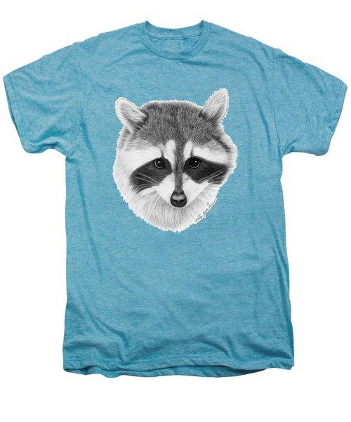 Raccoon Men's Premium T-Shirt by Rita Palmer