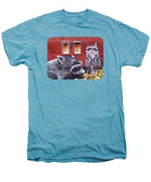 Raccoons Men's Premium T-Shirt by Ethna Gillespie