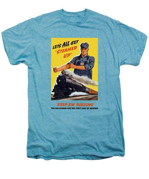 Railroads Are The First Line Of Defense Men's Premium T-Shirt
