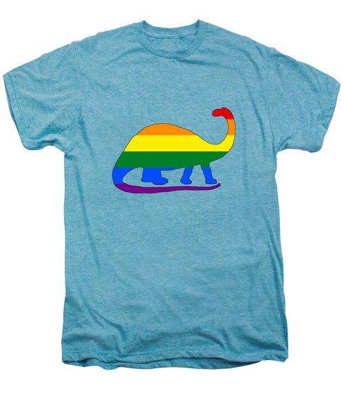 Rainbow Brontosaurus Men's Premium T-Shirt by Mordax Furittus