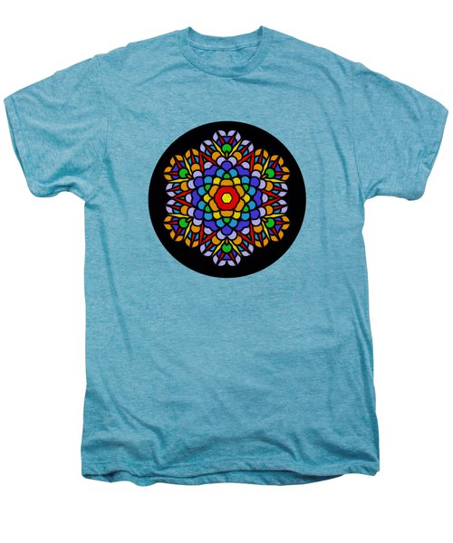 Rainbow Mandala By Kaye Menner Men's Premium T-Shirt by Kaye Menner