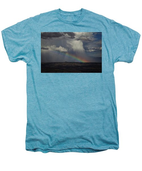 Rainbow Storm Over The Verde Valley Arizona Men's Premium T-Shirt