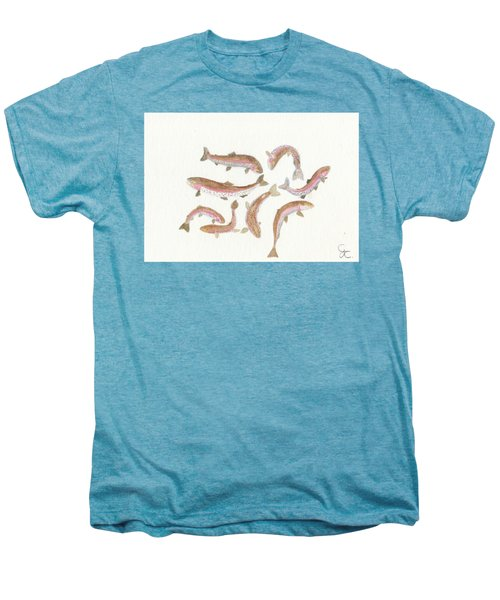 Rainbow Trout Men's Premium T-Shirt by Gareth Coombs